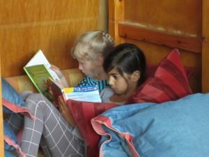 Wir wollen nebeneinander lesen.